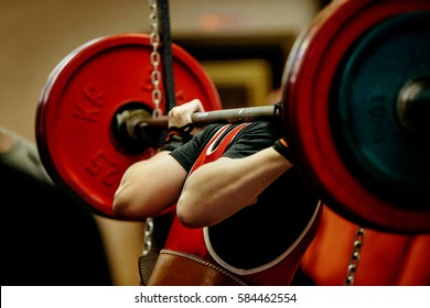 female powerlifter squat barbell for competition powerlifting