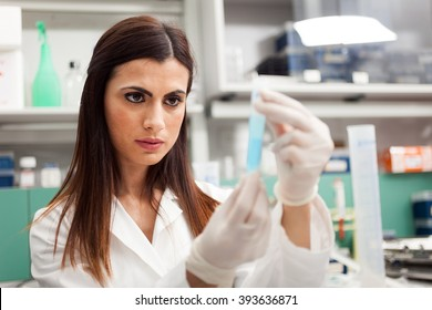Female researcher in her lab