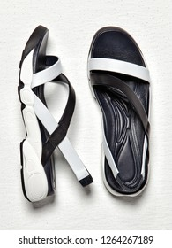 Female sandals isolated