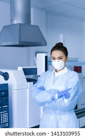 Female scientist in the CDC laboratory