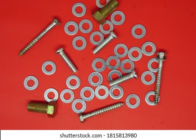 Female screws, bolts and bolts, rings, metal screws, mechanic equipment