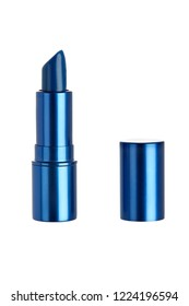 Female skin care lip gloss or cosmetic makeup lipstick isolated on a white background.  The shiny generic product is used in cosmetology and fashion.
