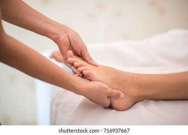 Female Spa Massage Legs For Relaxing after walk always or Standing in Shopping