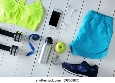 fitness accessoires images, stock photos \u0026 vectors shutterstockfemale sport equipment on a white background