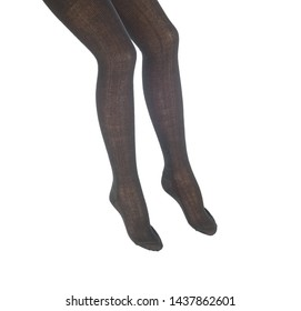 female stockings on a mannequin, on a white background