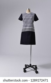 female sundress clothing isolated on dummy- full-length