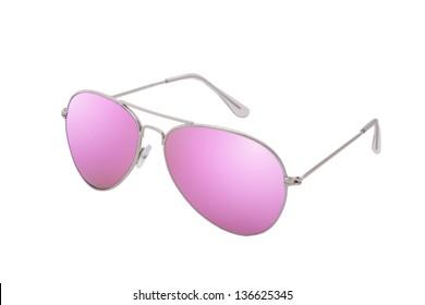 Female sunglasses isolated on white background