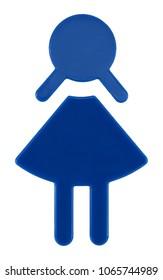 Female Toilet Sign, isolated on white background