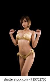 female top body on Low-key lighting.
