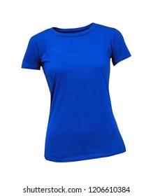 Female t-shirt isolated on white background