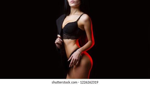 Female in underwear. Sexy woman, lingerie, underwear women, bra. Sexy girl, lace underwear. Beautiful ass. Sexy ass in panties and bra. Sensual woman body. Slim girl with sensual body, lip, panties.