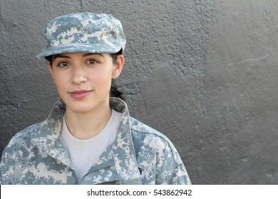 Female US Army Soldier wearing uniform