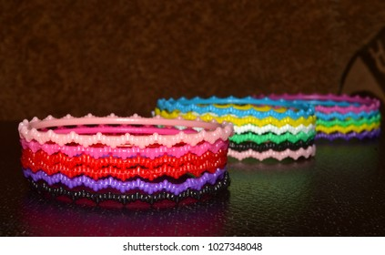Female use bracelets plastic made colourful object