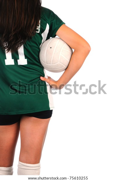 Volleyball woman stock image. Image of kick, indoor