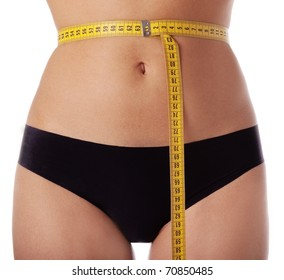 Female waist measuring