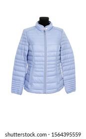 female warm jacket isolated on a white background