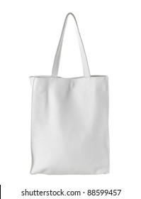 female white leather bag isolated on white