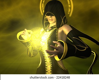 female wizard