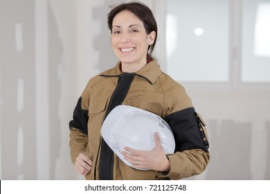 female worker posing and smiling