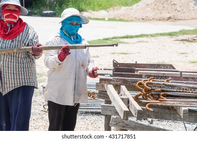 Female workers in construction sites