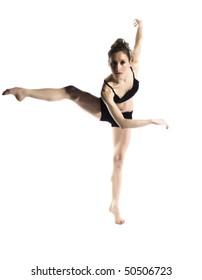 female young ballerina