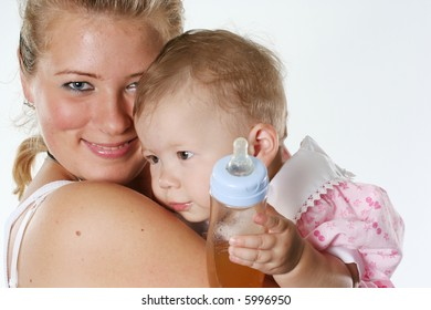 females baby smiling love cute family mother