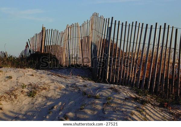 Fence at beach