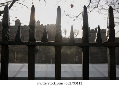 A fence between tower fortress