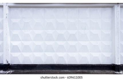 Fence of concrete