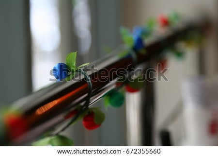 Fence Decoration Party Stock Photo Edit Now 672355660
