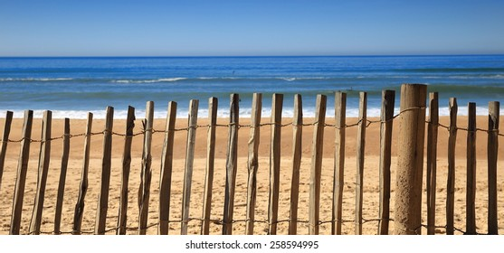 Fence on the beach-Hossegor