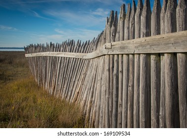 Fence from on Fort Fisher Recreation Park, North Carolina, USA