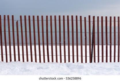 Fence on a lake