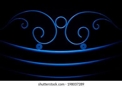 fence ornamental elements on black background
