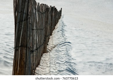fence over the snow