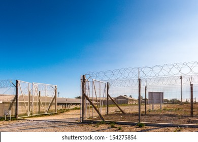 Fence of the Prison on the Robben Island, South Africa, where the President of South Africa Nelson Mandela was imprisoned. UNESCO World heritage