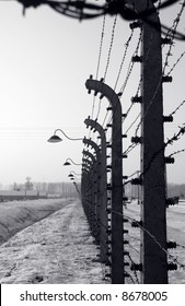 Fence surrounding Auschwitz / Birkenau camp