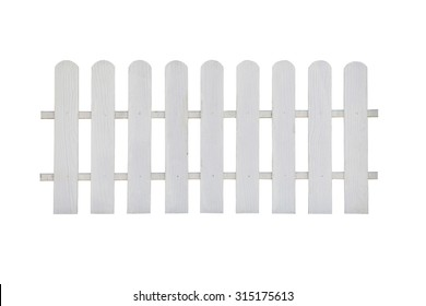fence wood on white background with clipping paths.