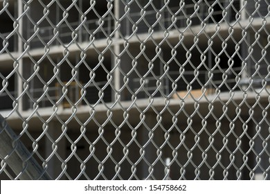 Fenced in construction site