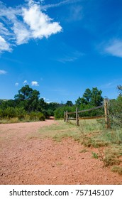 Fencing with Red Dirt and Trees