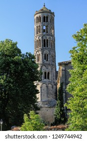 Fenestrelle Tower, Saint-theodorit Cathedral In Uzes, south of France