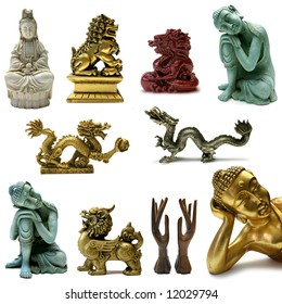 Feng Shui Objects Sampler with clipping paths
