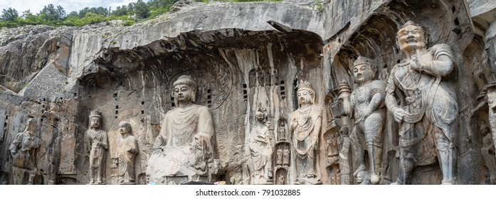 Fengxiangsi Cave, the main one in the Longmen Grottoes in Luoyang, Henan, China. Longmen is one of the 3 major Buddhist caves of China, and a World heritage Site.