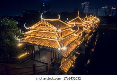 FengYu bridge at night, Changsha, Southern China