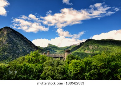 Fenis castle is located in Fenis Municipality, it is one of the most famous castles in Aosta Valley, Italy, and for its architecture has become one of the major tourist attractions of the region