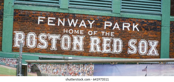 Fenway Park Boston - home of the Boston Red Sox - BOSTON / MASSACHUSETTS - APRIL 3, 2017