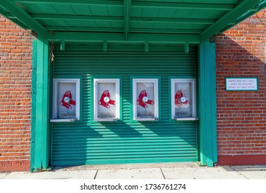 Fenway Park, Boston, MA, USA, September 30,2019.Fenway Park is a baseball park located in Boston, Massachusetts, near Kenmore Square. Since 1912. it has been the home for the Boston Red Sox