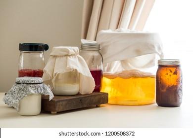 Fermented foods in jar
