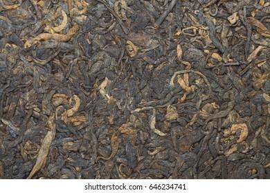fermented  pressed  black tea texture