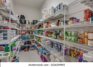 Fernandina Beach, Florida / USA - October 15 2019: A well stocked large pantry